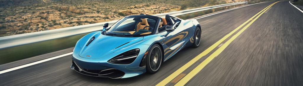 McLaren 720S Spider Blue